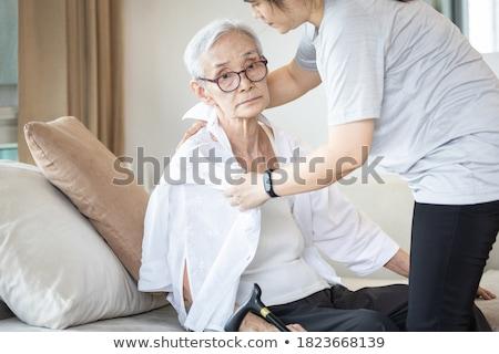 Senior Girl Dressing Up Stock photo © lenm
