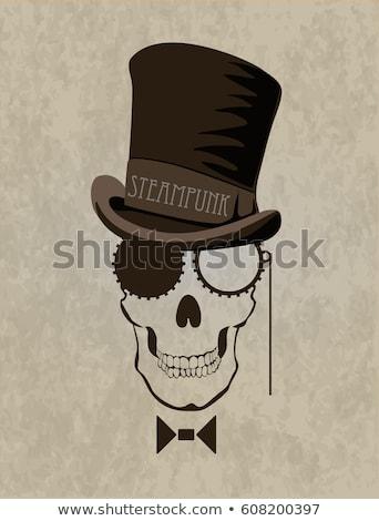 Steampunk kafatası buhar punk bilimkurgu tarihsel Stok fotoğraf © Lightsource