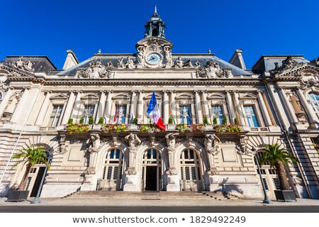 Town Hall and Place Jean Jaures in Tours Stock photo © tilo