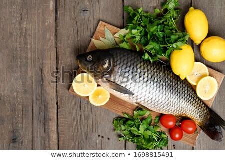 balık · lezzet · baharat · ahşap · gıda - stok fotoğraf © dash