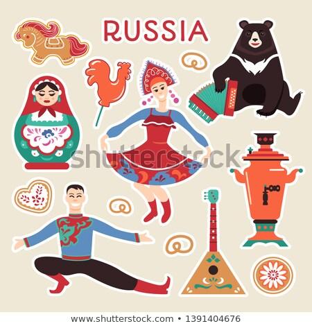 Rusland ingesteld poster communie theepot pop Stockfoto © robuart