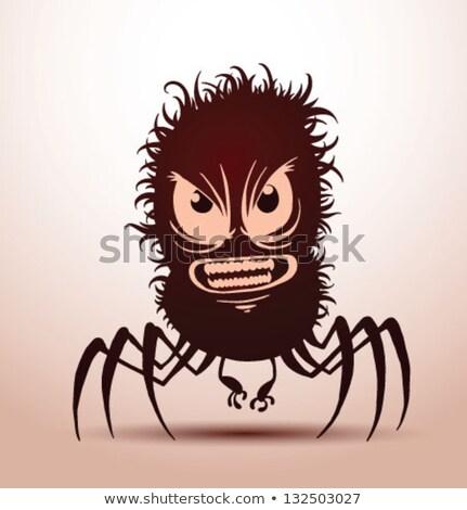 Mérges rajz szőrös szörny illusztráció nagy Stock fotó © cthoman