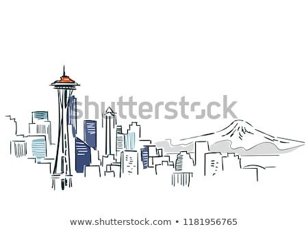 Seattle stadsgezicht gebouw achtergrond Stockfoto © gomixer