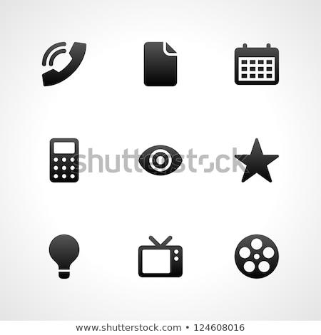 Promóció telefon ikon szett bemutató diagram irodai szék Stock fotó © robuart