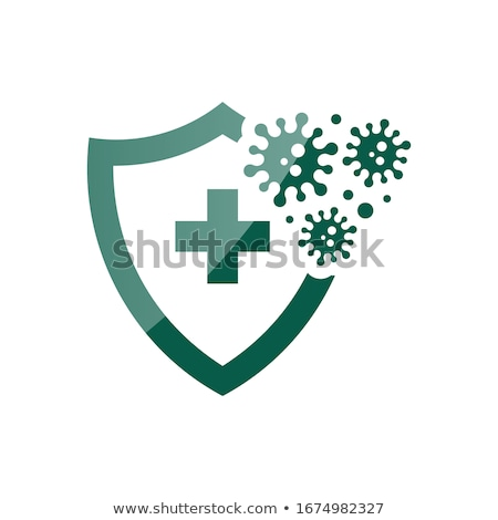 Schild bescherming virus teken vector Stockfoto © vector1st