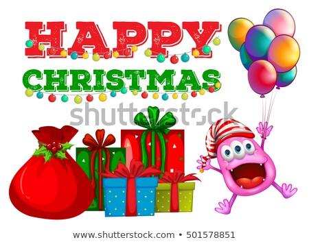 Natale straniero palloncini illustrazione sfondo bag Foto d'archivio © colematt