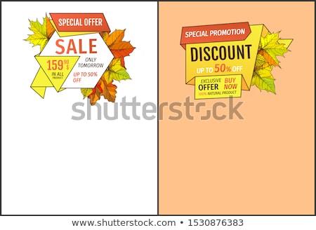 Vijftig procent korting morgen verkoop Stockfoto © robuart