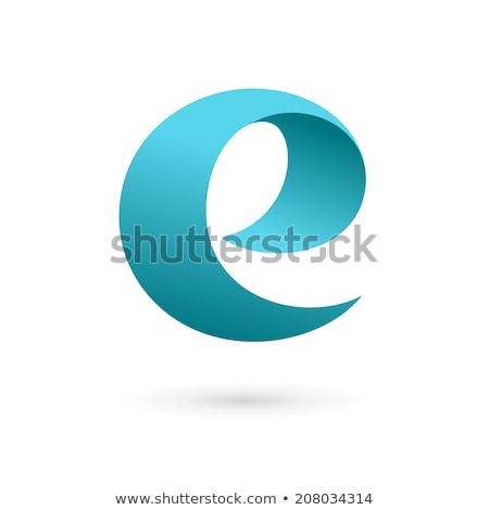 Renkli ikon mektup vektör imzalamak dizayn Stok fotoğraf © blaskorizov