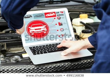 controls near the steering wheel in a modern car Stock photo © ruslanshramko