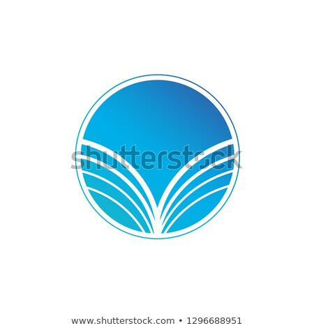 Foto stock: Azul · abstrato · logotipo · sol