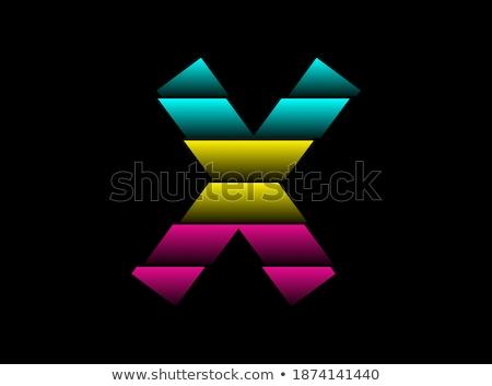 print logo letter x cmyk icon vector symbol stock photo © blaskorizov