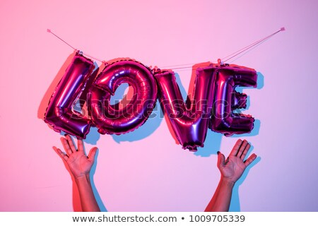 letter shaped balloons forming the word love stock photo © nito