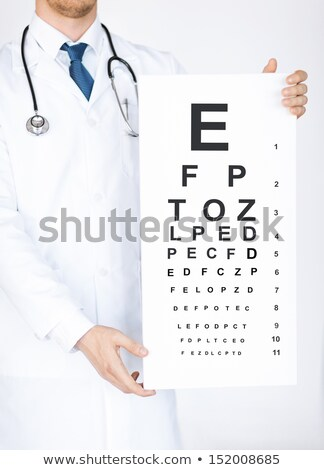Oculist Showing An Eye Chart  Stock photo © colematt