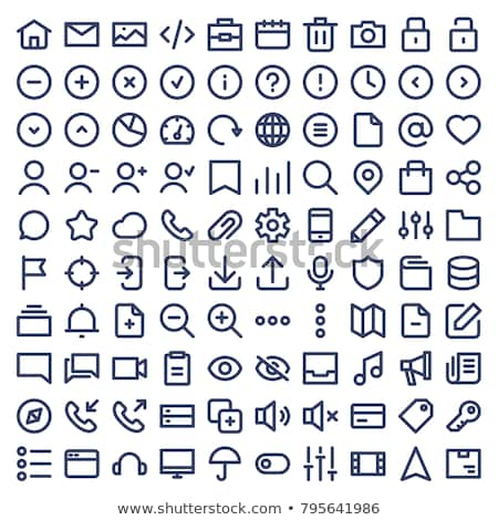 Stockfoto: Eenvoudige · icon · cirkel · geïsoleerd · witte · computer