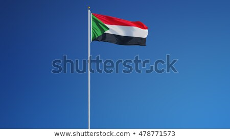 Sudan flag isolated on white Stock photo © daboost