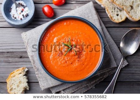 Bowl of spicy tomato soup Stock photo © Alex9500