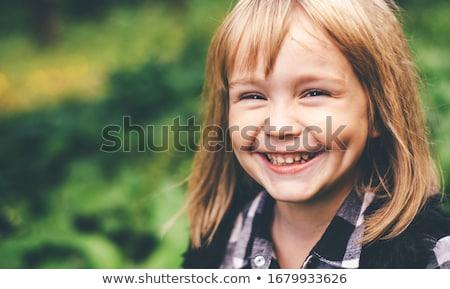 人間 歯 表情 実例 顔 背景 ストックフォト © colematt