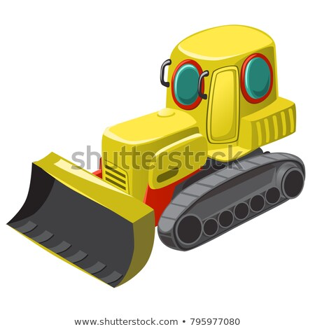 Underwater technique for cleaning of the seabed isolated on white background. Vector cartoon close-u Stock photo © Lady-Luck