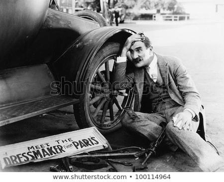 男 自動車修理 車 eps 10 道路 ストックフォト © netkov1
