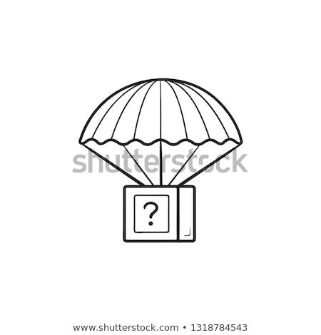 пакет парашютом рисованной болван икона Сток-фото © RAStudio