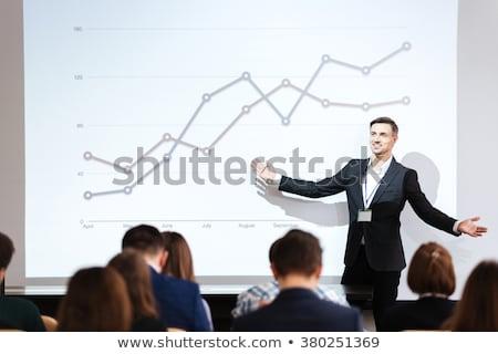 Geschäftsmann Direktor Seminar Präsentation Vektor Führer Stock foto © robuart
