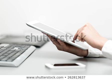 Mano touch screen tecnologia uomini d'affari Foto d'archivio © dolgachov
