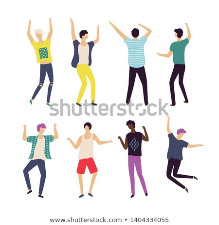 Dancer Boy Set, Male Moving, Bachelor Party Vector Stock photo © robuart