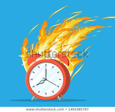 Yukarı acele yanan kronometre ikon sıcak Stok fotoğraf © Winner