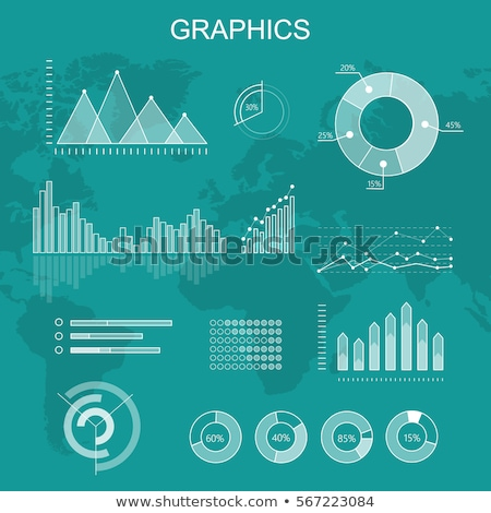 Estadística información monocromo gráficos establecer empresario Foto stock © robuart