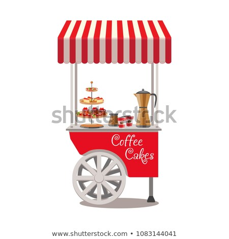 Hot Dog and Coffee Shop Sellers with Products Stock photo © robuart