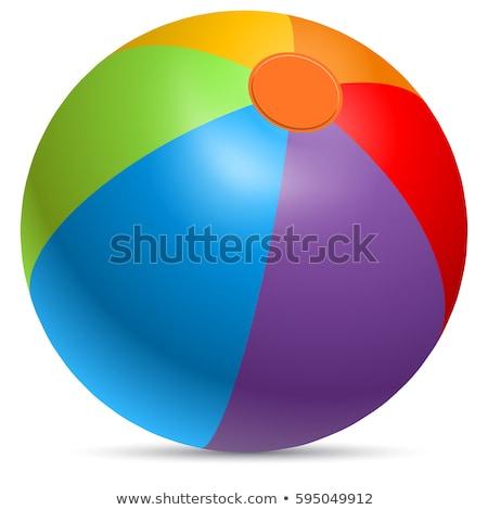 インフレータブル 縞模様の ボール 孤立した ベクトル おもちゃ ストックフォト © robuart