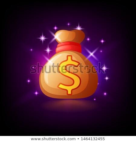 Saco dinheiro ícone on-line Foto stock © MarySan