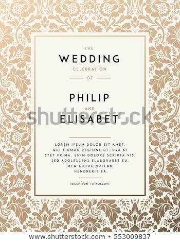 Classique invitation de mariage design cadre carte Photo stock © SArts