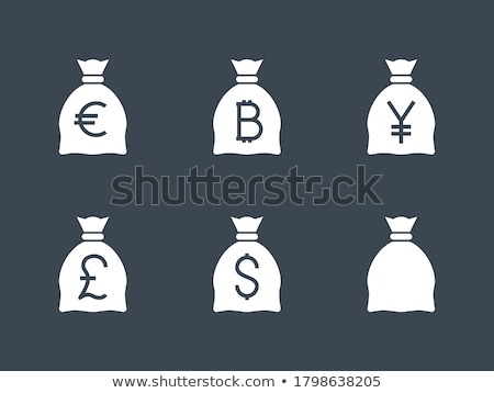 money bag with pound related vector glyph icon stock photo © smoki