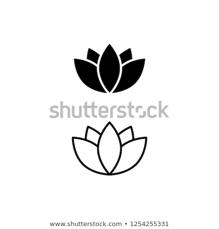 lotus flower icon stock photo © angelp