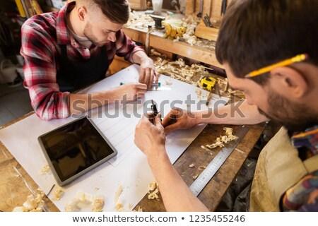 Planı atölye meslek teknoloji insanlar iki Stok fotoğraf © dolgachov