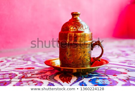 кофе металл турецкий традиционный Кубок кофе Сток-фото © grafvision