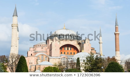 Hagia Sophia domes and minarets in the old town of Istanbul, Tur Stock photo © boggy