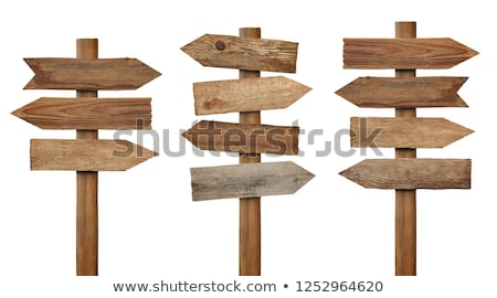 rough wood sign on post stock photo © jsnover