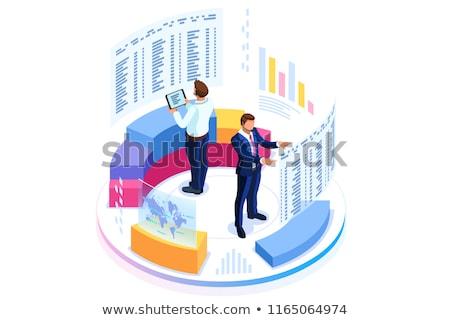 経営分析 研究 金融 虫眼鏡 円グラフ 画面 ストックフォト © -TAlex-