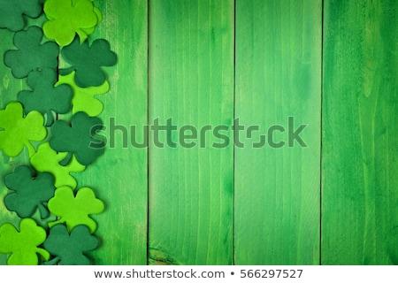 st patricks day decorations on wooden background Stock photo © dolgachov