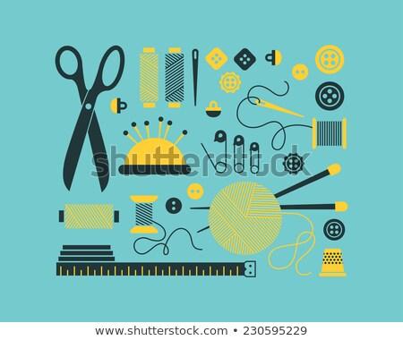 Foto stock: Fita · métrica · ícones · conjunto · governante · centímetro