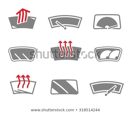Verwarming automotive glas icon vector geïsoleerd Stockfoto © smoki