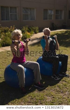 行使 · 庭園 · 女性 · カップル · 人 - ストックフォト © wavebreak_media