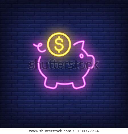 Banking Neon Banner Design Stock photo © Anna_leni