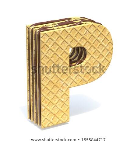 Fuente chocolate crema relleno 3D Foto stock © djmilic