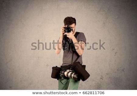 Mano foto tiro vuota grigio muro Foto d'archivio © ra2studio