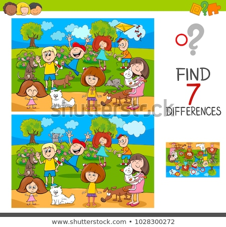 differences game with funny dogs group Stock photo © izakowski