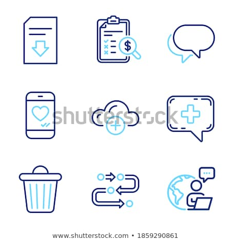 Love Chat Download Icon Vector Outline Illustration Stock photo © pikepicture
