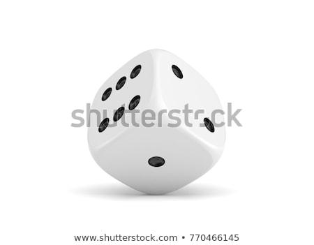 Sześć biały gry 3D 3d ilustracja Zdjęcia stock © djmilic